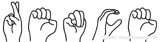 Rence im Fingeralphabet der Deutschen Gebärdensprache