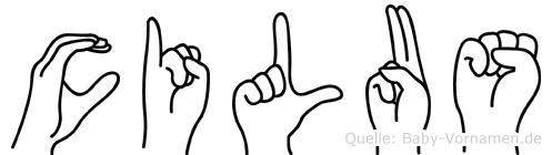 Cilus in Fingersprache für Gehörlose