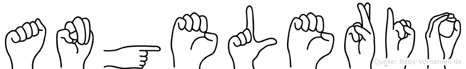 Angelerio im Fingeralphabet der Deutschen Gebärdensprache