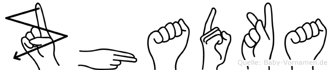 Zhadka in Fingersprache für Gehörlose
