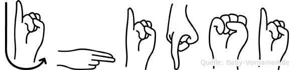 Jhipsi in Fingersprache für Gehörlose