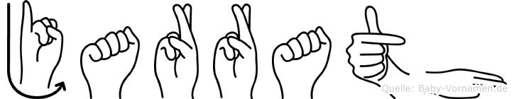 Jarrath im Fingeralphabet der Deutschen Gebärdensprache