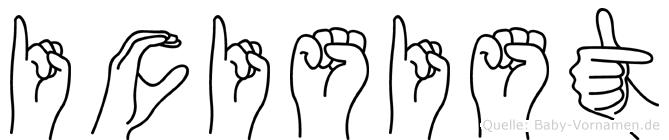 Icisist in Fingersprache für Gehörlose