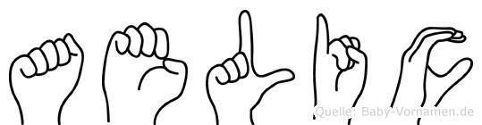 Aelic im Fingeralphabet der Deutschen Gebärdensprache