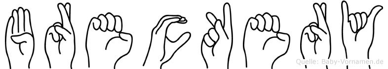 Breckery in Fingersprache für Gehörlose