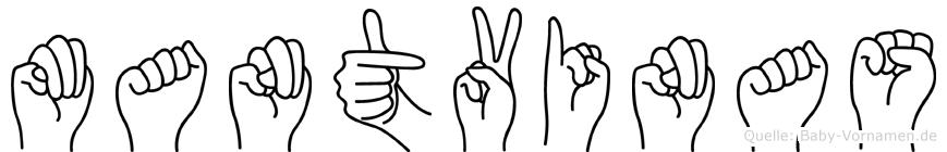 Mantvinas im Fingeralphabet der Deutschen Gebärdensprache