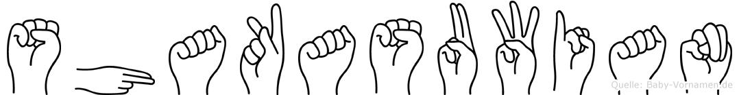 Shakasuwian in Fingersprache für Gehörlose