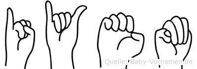 Iyem im Fingeralphabet der Deutschen Gebärdensprache