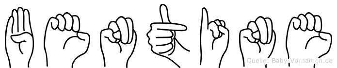 Bentine im Fingeralphabet der Deutschen Gebärdensprache