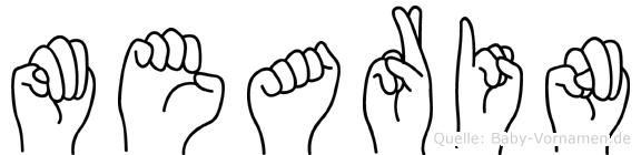 Mearin in Fingersprache für Gehörlose