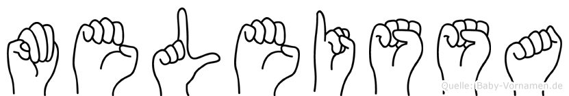 Meleissa in Fingersprache für Gehörlose