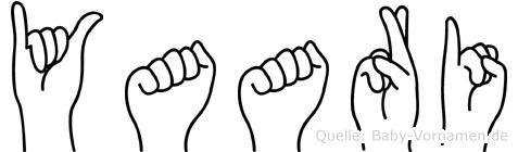 Yaari im Fingeralphabet der Deutschen Gebärdensprache