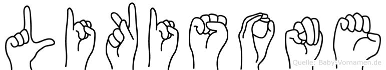 Likisone im Fingeralphabet der Deutschen Gebärdensprache