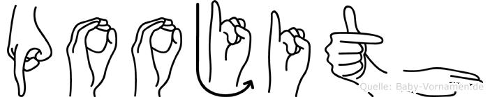 Poojith in Fingersprache für Gehörlose