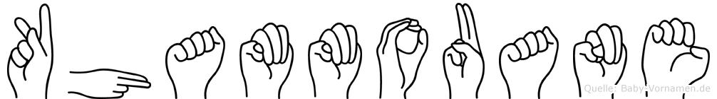 Khammouane im Fingeralphabet der Deutschen Gebärdensprache
