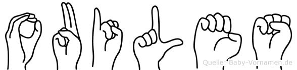 Ouiles in Fingersprache für Gehörlose