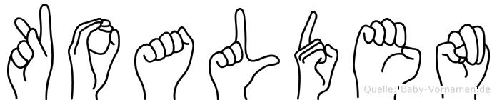 Koalden in Fingersprache für Gehörlose
