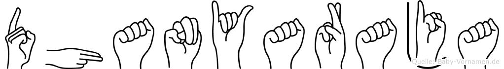 Dhanyaraja in Fingersprache für Gehörlose