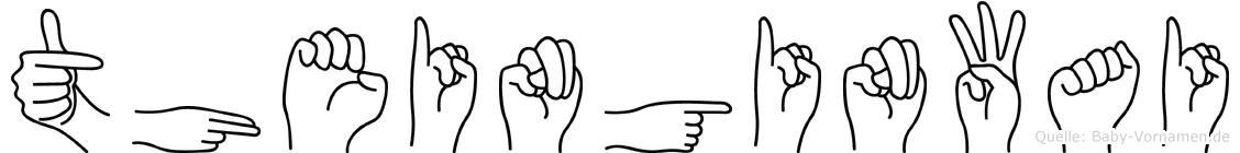 Theinginwai im Fingeralphabet der Deutschen Gebärdensprache