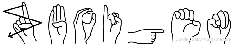 Zboigen in Fingersprache für Gehörlose