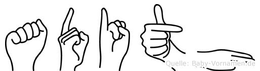 Adith in Fingersprache für Gehörlose