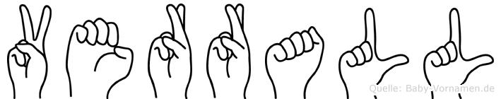Verrall im Fingeralphabet der Deutschen Gebärdensprache