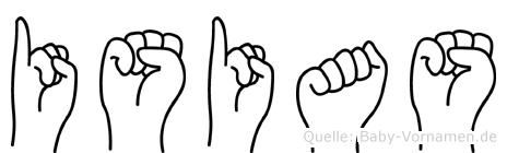 Isias in Fingersprache für Gehörlose