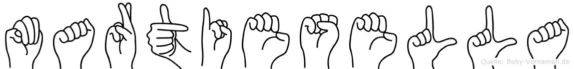 Martiesella in Fingersprache für Gehörlose