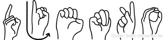 Djenko in Fingersprache für Gehörlose