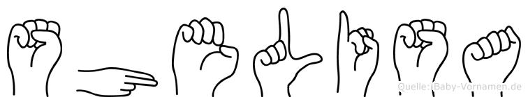 Shelisa in Fingersprache für Gehörlose