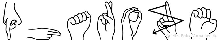 Pharoze in Fingersprache für Gehörlose
