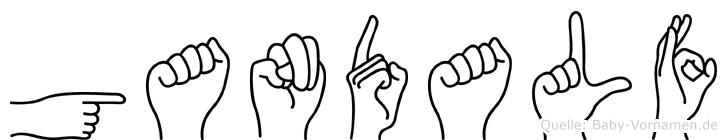 Gandalf im Fingeralphabet der Deutschen Gebärdensprache