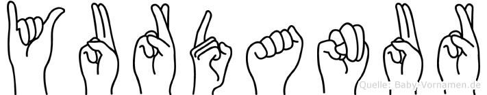 Yurdanur im Fingeralphabet der Deutschen Gebärdensprache