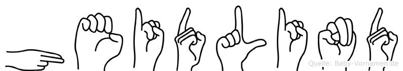 Heidlind im Fingeralphabet der Deutschen Gebärdensprache