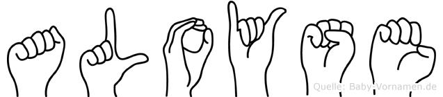 Aloyse im Fingeralphabet der Deutschen Gebärdensprache