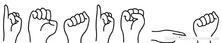 Ieaisha in Fingersprache für Gehörlose
