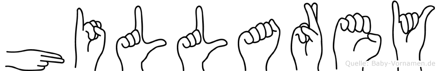 Hillarey im Fingeralphabet der Deutschen Gebärdensprache