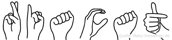Riacat in Fingersprache für Gehörlose
