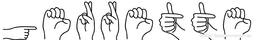 Gerrette im Fingeralphabet der Deutschen Gebärdensprache