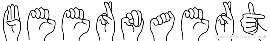 Beernaert im Fingeralphabet der Deutschen Gebärdensprache