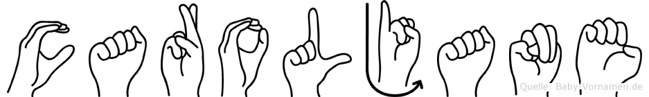 Caroljane in Fingersprache für Gehörlose