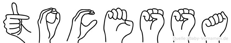 Tocessa im Fingeralphabet der Deutschen Gebärdensprache
