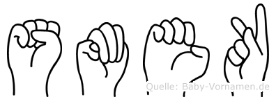 Smek in Fingersprache für Gehörlose
