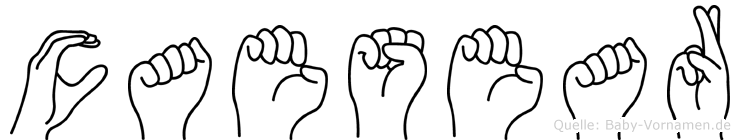 Caesear im Fingeralphabet der Deutschen Gebärdensprache