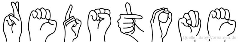 Redstone im Fingeralphabet der Deutschen Gebärdensprache