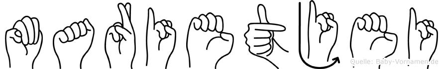 Marietjei in Fingersprache für Gehörlose