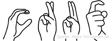 Crux in Fingersprache für Gehörlose
