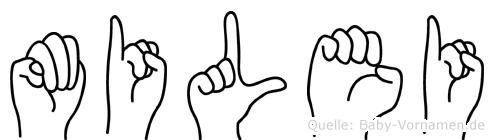 Milei im Fingeralphabet der Deutschen Gebärdensprache