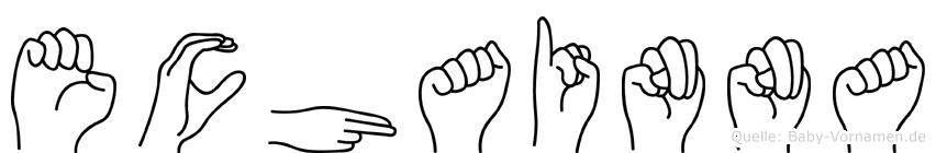 Echainna im Fingeralphabet der Deutschen Gebärdensprache