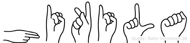 Hikila in Fingersprache für Gehörlose